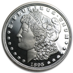 1 oz 1895 Morgan Dollar Replica Silver Round (Proof) .999 Fine