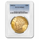 1895-S $20 Gold Liberty Double Eagle - MS-63 PCGS