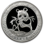 1986 (12 oz PROOF) Silver Panda - Hong Kong (W/Box & Coa)