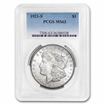 1921-S Morgan Dollar - MS-63 PCGS