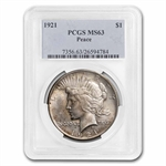 1921 Peace Dollar MS-63 PCGS
