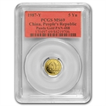 1987-Y (1/20 oz) Gold Chinese Pandas - MS-69 PCGS