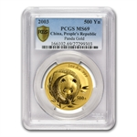 2003 1 oz Gold Chinese Panda MS-69 PCGS
