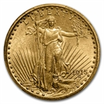 1915 $20 St. Gaudens Gold Double Eagle - MS-63 PCGS