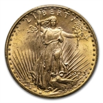1923 $20 St. Gaudens Gold Double Eagle - MS-64 PCGS