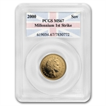 Great Britain 2000 Gold Sovereign MS-67 First Strike PCGS