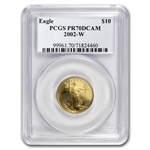 2002-W 1/4 oz Proof Gold American Eagle PR-70 PCGS
