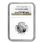 1999-W 1/4 oz Proof Platinum American Eagle PF-70 NGC UCAM