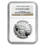 1999-W 1 oz Platinum American Eagle PF-70 NGC UCAM Registry Set