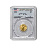 2007 1/10 oz Gold American Eagle MS-69 PCGS (First Strike)