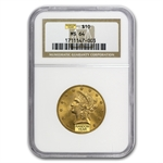 $10 Liberty Gold Eagle - MS-64 NGC