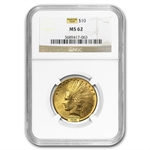$10 Indian Gold Eagle - MS-62 NGC