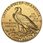 $5 Indian Gold Half Eagle - Almost Uncirculated
