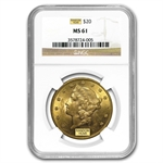 $20 Gold Liberty Double Eagle - MS-61 NGC