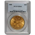$20 Gold Liberty Double Eagle - MS-61 PCGS