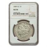 1889-CC Morgan Dollar - Almost Uncirculated-50 NGC