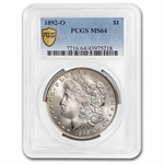 1892-O Morgan Dollar - MS-64 PCGS