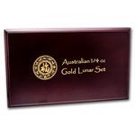 Lunar Series I (1/4 oz Gold) - 12 Coin Wood Presentation Box