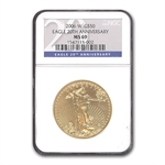 2006-W 1 oz Burnished Gold American Eagle MS-69 NGC (20th Ann)