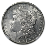 1892 Morgan Dollar - Almost Uncirculated-58