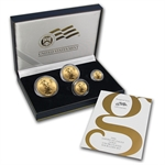 2006-W 4-Coin Burnished Gold American Eagle Set (w/Box & CoA)