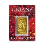 20 gram Oriana Perth Mint Gold Bar .9999 Fine (In Assay)
