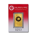 20 gram Oriana Perth Mint Gold Bar .9999 Fine (In assay card)