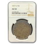 1877-S Trade Dollar - Almost Uncirculated-58 NGC