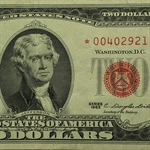 1963* $2.00 (RED SEALS) Star Notes Very Good - Very Fine
