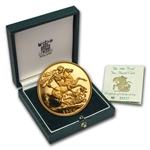 Great Britain Gold Proof 2 Pound Coin w/Box &COA