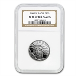 2000-W 1/2 oz Proof Platinum American Eagle PF-70 NGC UCAM