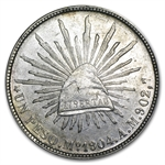 1898-1909 Mexican Silver 1 Peso (AU or Better) ASW .7860