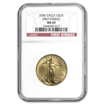 2006 1/2 oz Gold American Eagle MS-69 NGC (First Strike)
