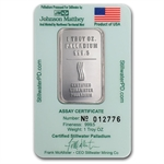 1 oz Johnson Matthey Palladium Lewis & Clark Bars (Proof, Assay)