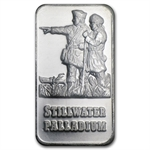 1 oz Johnson Matthey Palladium Lewis & Clark Bar (Proof, Assay)