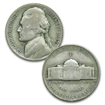 1942-1945 Jefferson Wartime Nickel Set - 35% Silver (Avg Circ)
