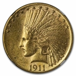 1911 $10 Indian Gold Eagle - AU-58 NGC