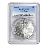 2006-W (Burnished) Silver American Eagle MS-69 PCGS