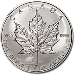 1999 1 oz Silver Canadian Maple Leaf - Lunar RABBIT Privy