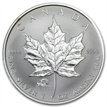 2000 1 oz Silver Canadian Maple Leaf - Lunar DRAGON Privy
