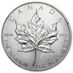 1 oz Canadian Palladium Maple Leaf (Scruffy)