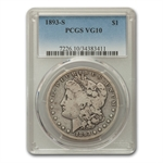 1893-S Morgan Dollar Very Good-10 PCGS