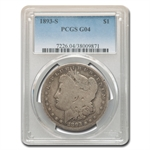 1893-S Morgan Dollar Good-4 PCGS - Key Date