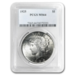 1925 Peace Dollar MS-64 PCGS