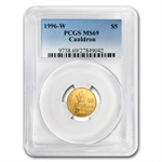 1996-W Cauldron - $5 Gold Commemorative - MS-69 PCGS