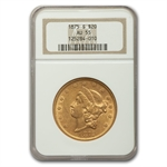 1875-S $20 Gold Liberty Double Eagle - AU-55 NGC