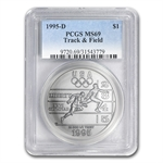 1995-D Olympic Track and Field $1 Silver Commem - MS-69 PCGS