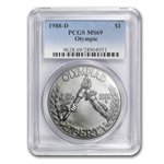 1988-D Olympic $1 Silver Commemorative - MS-69 PCGS