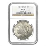 1921 Morgan Dollar - MS-64 NGC