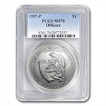 1997-P Law Enforcement $1 Silver Commemorative - MS-70 PCGS